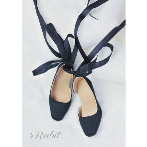 1/3Girl/SD10/13 Flatfeet /Ballet Mary Jane shoes[BLS007] Silk Black