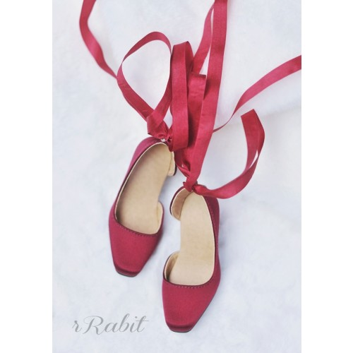 1/3Girl/SD10/13 Flatfeet /Ballet Mary Jane shoes[BLS007] Silk Wine