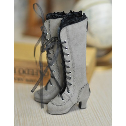 1/4 MSD - LG002 Carving long boot - Smoke Cotton